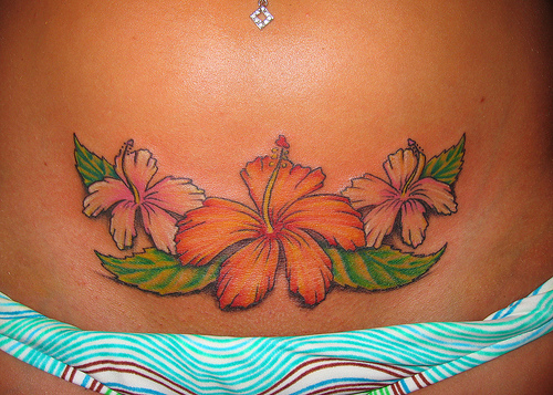 Flower Tattoos Tribal