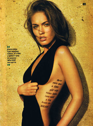 Megan Fox Done With Tattoos