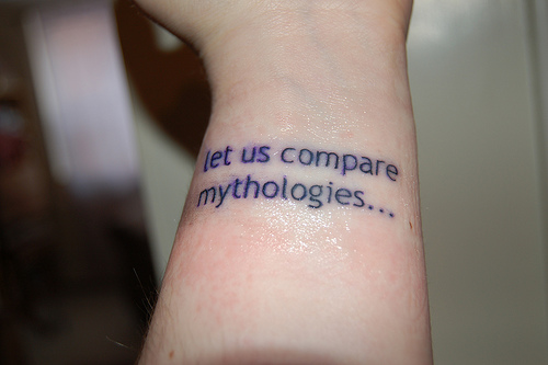 tattoos with sayings. Text Tattoos Becoming More