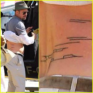 Celebrity Tattoos: Brad Pitt   Infinite Tattoos Blog
